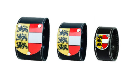 Kärntner Armband - Leder schwarz glatt