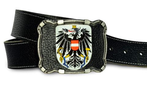 Österreich Gürtel Leder schwarz