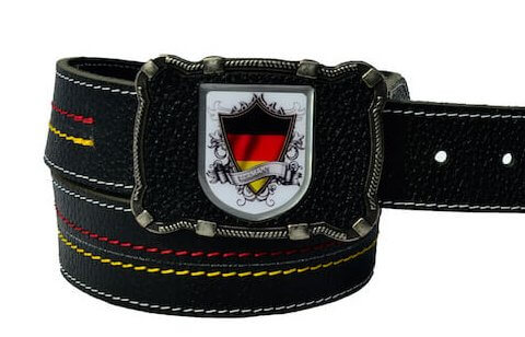 Deutschland Gürtel schwarz für jede Hose