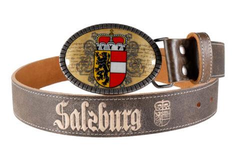 Salzburg Gürtel premium mit Salzburg Wappen