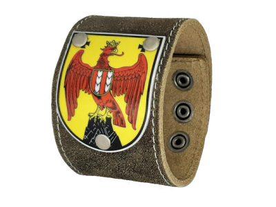 Armband Burgenland Rustico Trachtenbraun 5cm breit für Männer