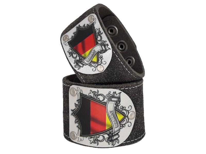 Armband mit Deutschland Wappen Silbergrau