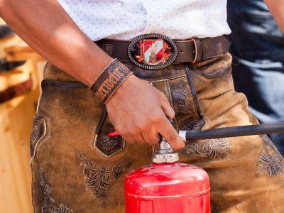 Armband mit Feuerwehr Lederprägung