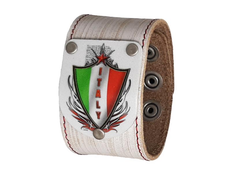 Armband Italien Vintage weiss 4cm breit