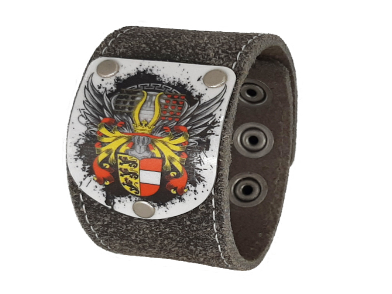 Kärntner Armband Flügale Silbergrau mit Kärnten Wappen