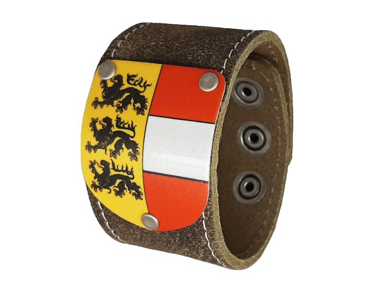 Armband Kärnten Traditionell Rustico braun mit Wappen