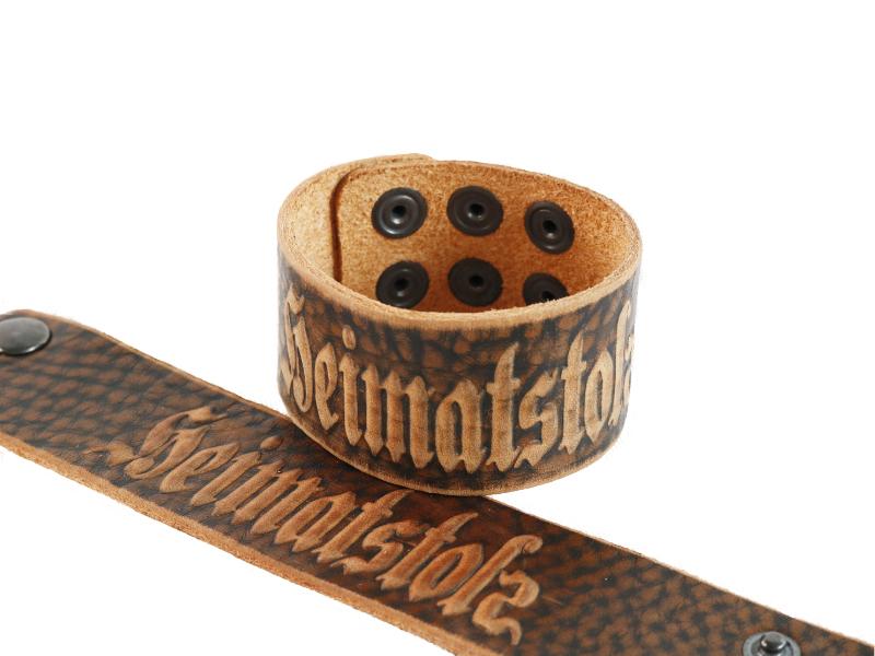 Armband Heimatstolz aus Leder