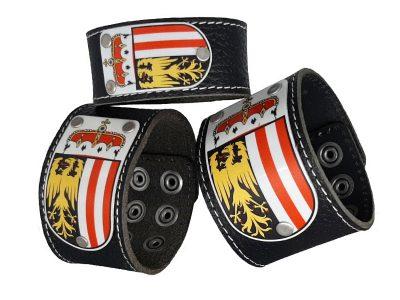Armband Oberösterreich Leder schwarz