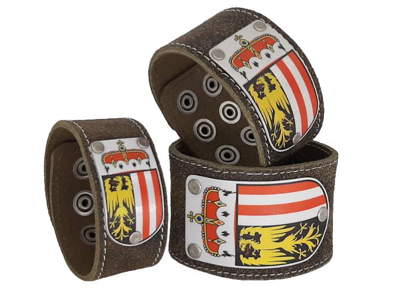 Lederarmband Oberösterreich Rustico Trachtenbraun
