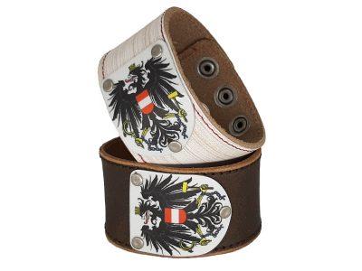 Armband mit Österreich Wappen Vintage Weiss oder Braun