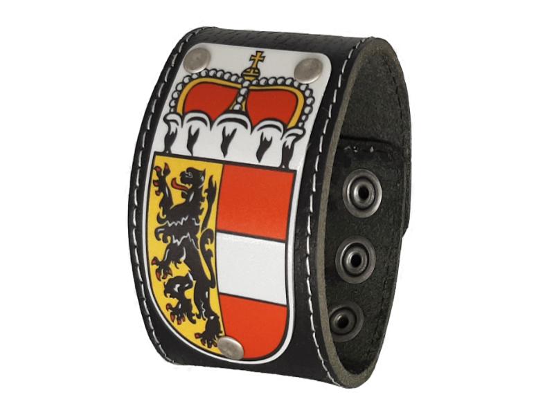 Salzburger Armband Leder schwarz 4cm