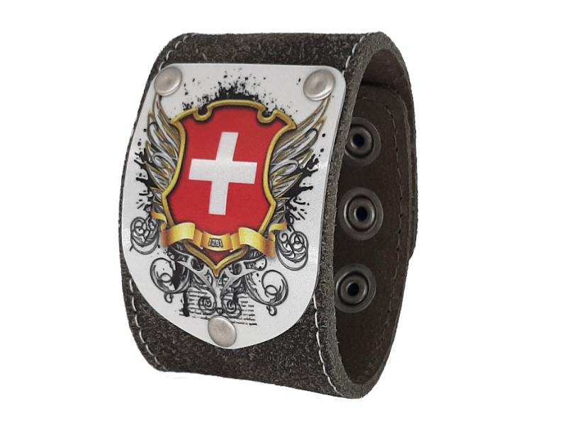 Trachten Armband mit Schweiz Wappen