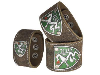 Armband mit Steiermark Wappen Rustico Trachtenbraun
