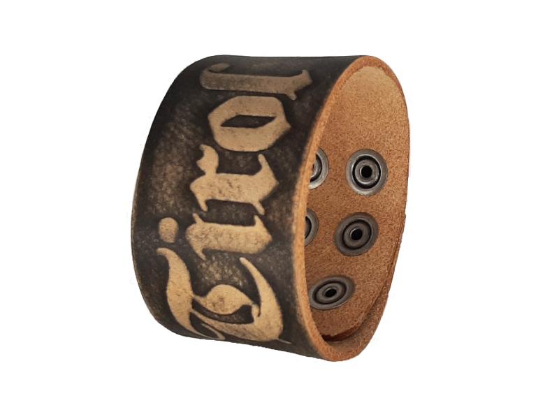 Armband Tirol mit Lederprägung