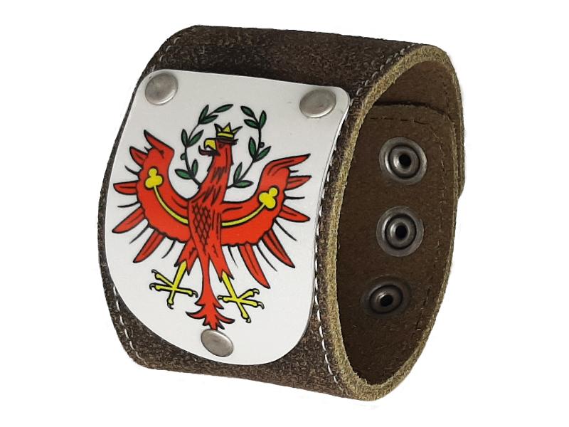 Armband Tirol mit Wappen rustico trachtenbraun 5cm