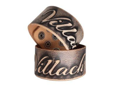 Leder Armband mit Villach Lederprägung