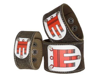 Vorarlberg Armband Rustico Trachtenbraun mit Wappen