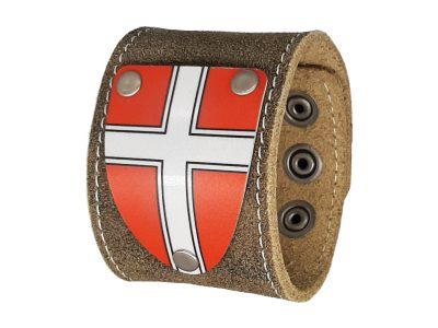 Lederarmband Wien mit Wappen rustico trachtenbraun 5cm