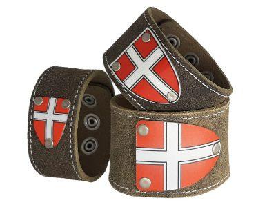 Armband mit Wiener Wappen Rustico Trachtenbraun