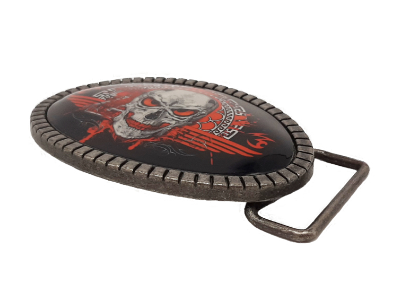 Buckle Totenkopf Red Death