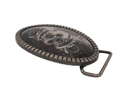 Gürtelschnalle Buckle Totenkopf Skull Blaster