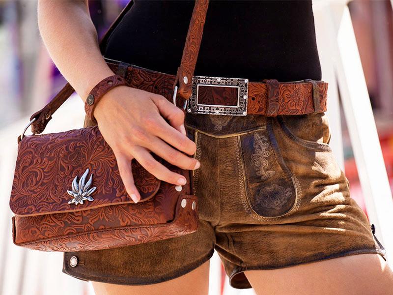 Damengürtel Charro Strass Fotoshooting