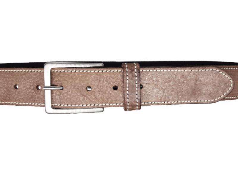 Ledergürtel für Frauen montblanc grau mit Dornschnalle