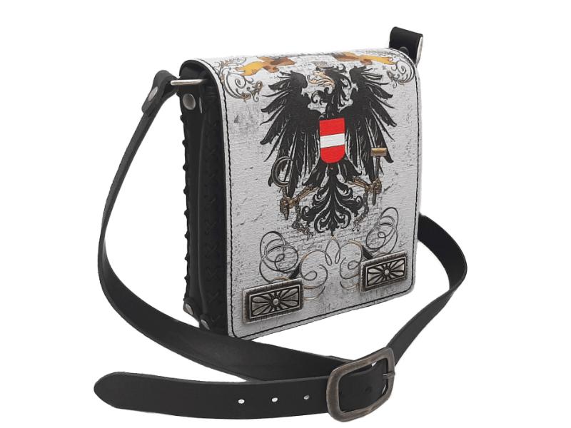 Ledertasche mit Österreich Wappen Adler