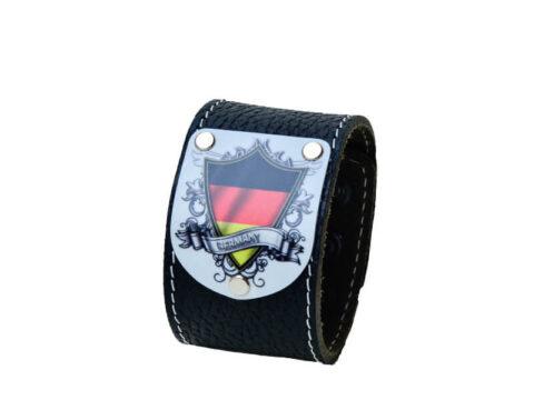 Deutschland Armband mit Wappen schwarz