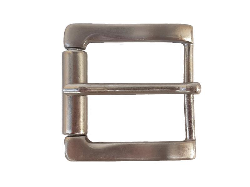 Dornschnalle Silber mit Rolle für Gürtel