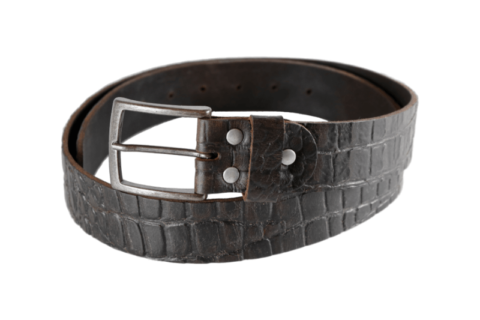 Damengürtel croco schwarz mit Dornschließe