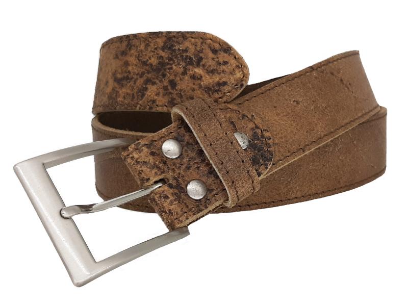 Ledergürtel für Damen in hellbraun und Leder Kenia