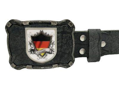 Gürtelschnalle Deutschland buffalo schwarz