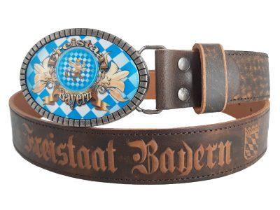 Ledergürtel Freistaat Bayern