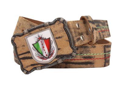 Gürtel mit Italien Wappen buffalo