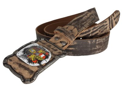 Ledergürtel Antik Bull mit Kärnten Wappen