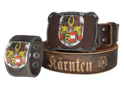 Ledergürtel Kärnten Herzale mit Kärnten Armband