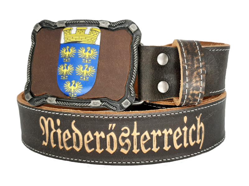 Gürtel mit Niederösterreich Wappen Deluxe