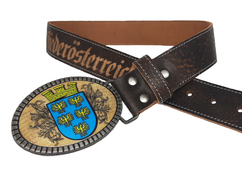 Ledergürtel Niederösterreich mit Wappen