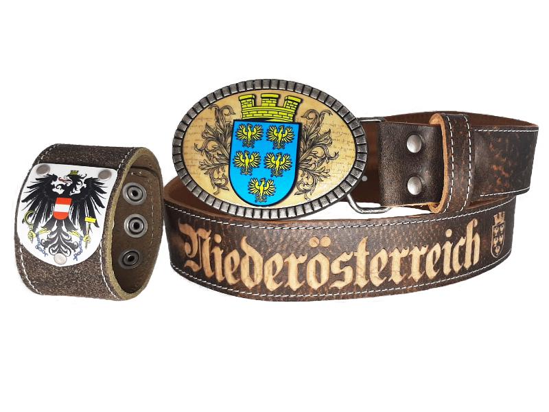 Trachtengürtel Niederösterreich Premium mit Armband Österreich