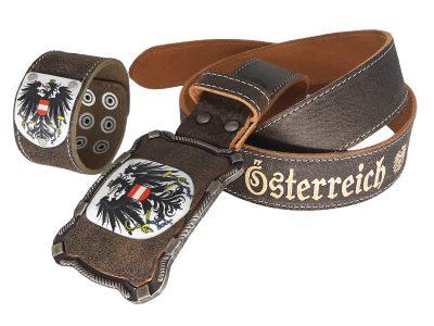 Österreich Gürtel Deluxe mit Armband
