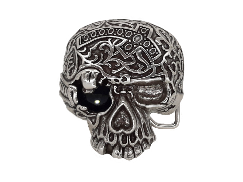Gürtelschnalle Buckle Black Death