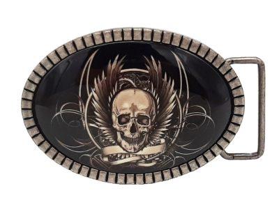 Gürtelschnalle Buckle Iron Skull
