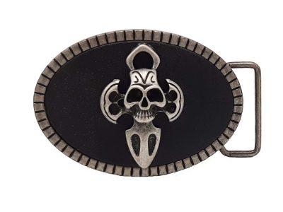 Gürtelschnalle Buckle Metal Skull