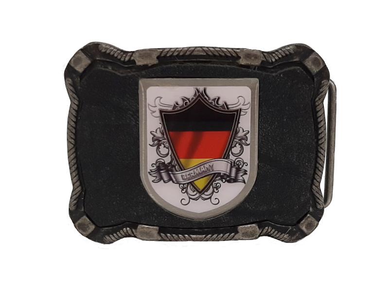 Gürtelschnalle Deutschland schwarz