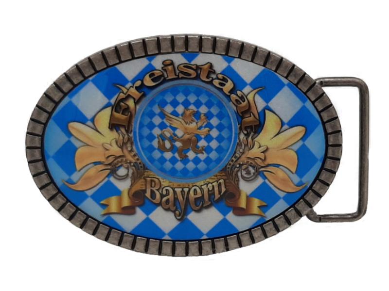 Gürtelschnalle Freistaat Bayern