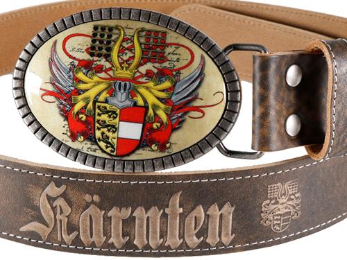 Gürtelschnalle Kärnten premium braun
