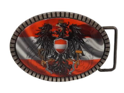 Gürtelschnalle Österreich rot