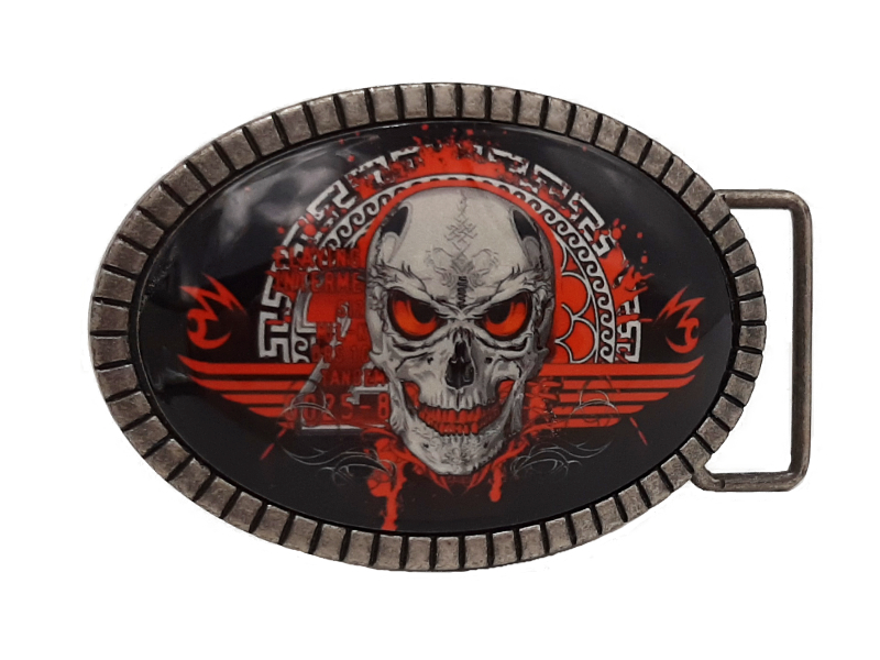 Gürtelschnalle Buckle Red Death