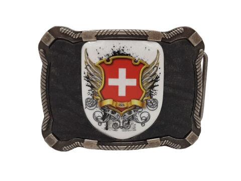 Gürtelschnalle Schweiz schwarz